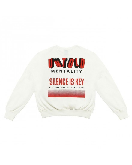 SWEATSHIRT OVERSIZE SILENCE IS KEY