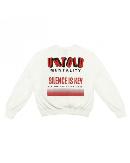 SWEATSHIRT OVERSIZE SILENCE IS KEY