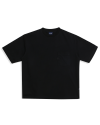U LOGO POCKET TEE BLACK