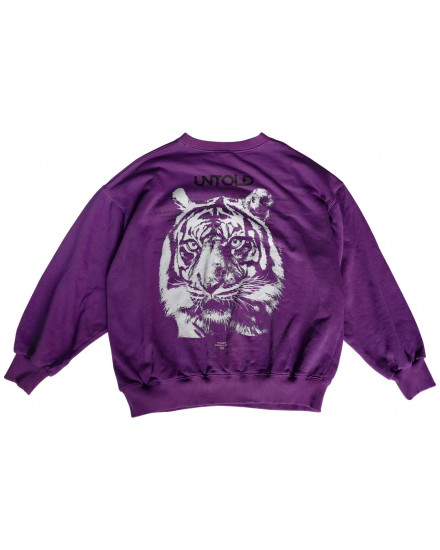 TIGER CLOUD PURPLE SWEATSHIRT