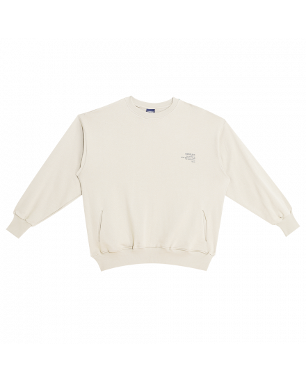 JOURNEY SWEATSHIRT DUSTY WHITE