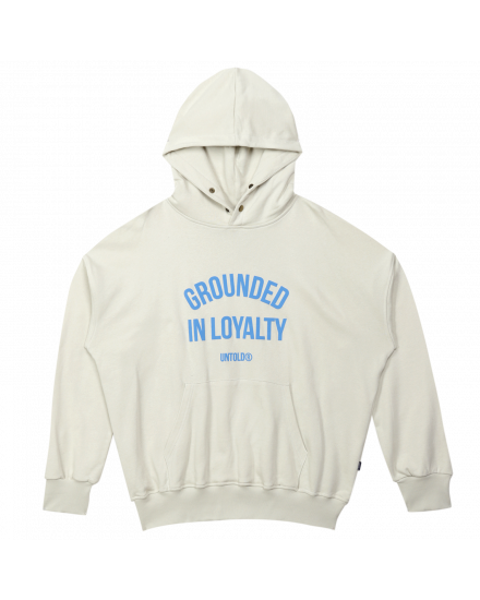 GROUNDED ARCH HOODIE - DUSTY WHITE
