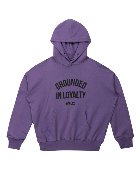 GROUNDED ARCH HOODIE - PURPLE